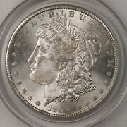 1890-s Morgan 1 Pcgs Certified Ms64 Old Green Label Holder Us Silver Dollar