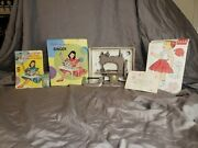 Antique French Singer Toy Sewing Machine With Vintage French Doll Sewing Pattern