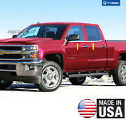 Fit 14-18 Chevy Silverado Double/extended Cab 4pc Window Sill Overlay