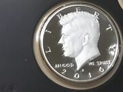 2016 S Silver Gem Proof Kennedy Half Dollar. This Is Really Nice High Grade