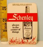 1967 New York Giants Football Schedule Schenley Reserve Blended Whiskey Ca