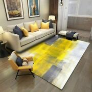 Modern Grey Yellow Abstarct Area Rug For Living Room Contemporary Colorful Rugs