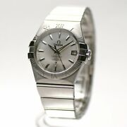Omega Constellation Co-axial 123.10.35.20.02.001 Automatic Silver Dial Menandrsquos