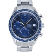 Authentic Omega 3212.80 Automatic Speedmaster Date Wrist Watch Blue 0067