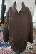 Lady Which Brown Jacket Zip And Buttons Size Xxl Plus Size Fit Chest Up To 48rins