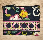 Vera Bradley Ribbons Small Quilted Coin Purse Wallet -l 4.5 X H 3.5