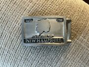 Rare Vintage Old Man Of The Mountain Belt Buckle New Hampshire