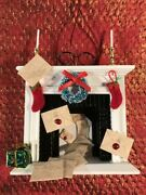 Harry Potter Inspired Christmas Ornament Fireplace With Acceptance Letters