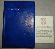 Kjv Cambridge Center Reference Bible 74xrl - Blue Antique French Morocco - New