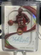 2019 Panini Immaculate Collection Signatures Clyde Drexler Auto 10/10 Ss-cdx 🔥