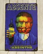 Absente Absinthe Tin Poster Sign Vintage French Ad Man Cave Bar Liquor Store B