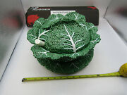 Rare Vintage Bordallo Pinheiro Portugal Cabbage Serving Bowl/tureen With Plate+