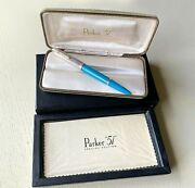 Parker 51 Special Edition 2002 Turquoise Fountain Pen W/case And Papers Nos 7wgp