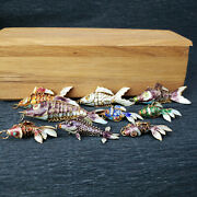 Chinese Enamel Articulated Wiggle Fish Pendants Charms / Your Choice Of 1