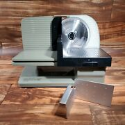 Chef's Choice 615a Meat And Food Slicer, Tilted Removable Blade Tested