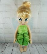 Disney Store Disney Animatorsand039 Collection Tinker Bell Large Plastic Doll - 16and039and039