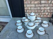 Discontinued Wedgewood China Chippendale 21 Pieces Coffee And Tea Set Mint