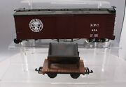 G Scale S.p.c. Boxcar And Wooden Ore Car