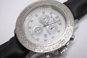 Joe Rodeo Menand039s Double Structure Chronograph Watch Rare Xl Size Full Diamond