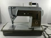 Heavy Duty Singer Sewing Machine 603 E Case Touch And Sew Controller Excellent