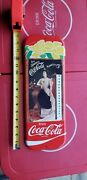 Vintage Coca Cola Victorian Woman 1980s Thermometer Sign
