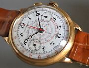 Early Universal Watch 40mm Enamel Dial Chronograph Swiss Watch From Ca 1930