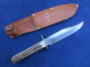 Very Nice Vintage Bowie Hunting Knife Ixl Sheffield England Wostenholm