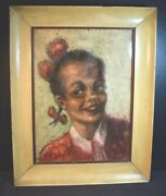 Armando G. Favazza Colored Pencil Drawing Of African American Girl