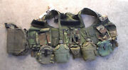 Us Army Vest, Tactical, Load Baring Belt Suspender Set And Canteens And Pouches Used
