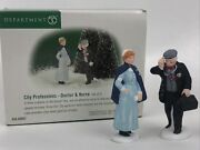 Dept 56 Xmas In The City Professions Doctor And Nurse 56.58962 Heritage Village