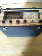 A Very Rare Antique Hallicrafters Portable Short Wave S - 72 Tube Radio
