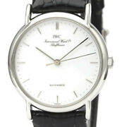 Polished Portofino Stainless Steel Automatic Mens Watch 3514 Iw3514 Bf527388