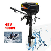 1000w 48v Electric Outboard Motor Trolling Motor Fishing Boat Engine 3000 Rpm Us
