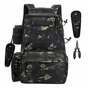 Fishing Tackle Backpack Outdoor Large Fishing Tackle Bag Army Green Camouflage