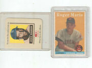 1958 Topps Baseball Card Roger Maris Rc 47 Beautiful Card Centered Nicely