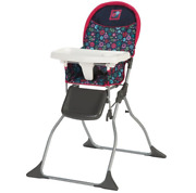 Cosco Simple Fold Full Size High Chair With Adjustable Tray, Flower Garden