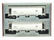 Z Scale Full Throttle Prr Pennsylvania Railroad 51and039 3-bay Covered Hopper 2-pack