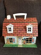 Vintage Usa Marx Toys Tin Mickey Mouse And Friends Doll House From Estate