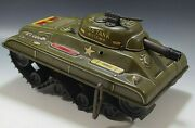 Marx 1950's U.s. Army Tank Division 392 Windup Toy Vintage Working Condition