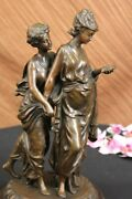 French Vintage Man And Woman Bronze Lovers Antique Reproduction Cast Figure Art