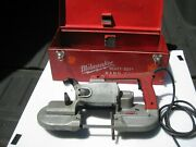 Milwaukee 6225 Portable Band Saw Bandsaw W/ Case - Works Great
