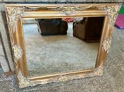Vintage Stunning Victorian Wood Gold Gilded Ornate Framed Wall Hanging Mirror