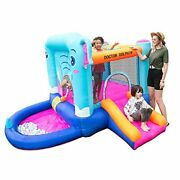 Doctor Dolphin Inflatable Bounce House, Jumping Castle With Slide And Ball Pit For