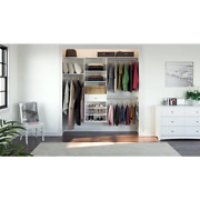 14 In. D X 84 In. W X 72 In. H Classic White Perfect Fit Wood Closet Kit