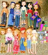 Huge Lot 12 Bratz Dolls - Lots Of Accessories - Fully-clothed - Loose Dolls S-3