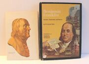 Benjamin Franklin Vintage Hardcover Book 1972 Rand Mcnally And Co Pamphlet Map