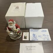 Santa Claus 2003 Limited Ed Musical Xmas Piece. Plays Santa Is Coming To Town