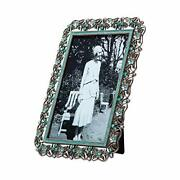 Nikky Home 4x6 Jeweled Picture Frame Vintage Antique Photo Frame High Definit...