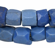 Opaque Russian Blues Trade Beads African 30 Inch