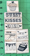 Rubber Stamp Lot Of 8 Valentines Day Themed Rubber Stamps By Craft Smart Love